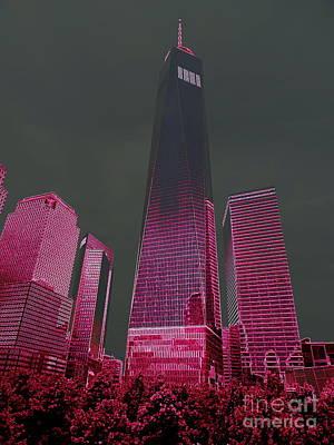 Digital Art - World Trade Center Abstract #1 by Ed Weidman