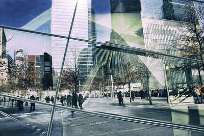 11 Memorial Photograph - World Trade Center Abstract by Jessica Jenney