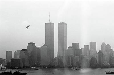 World Trade Center And Opsail 2000 July 4th Photo 18 B2 Stealth Bomber Art Print by Sean Gautreaux