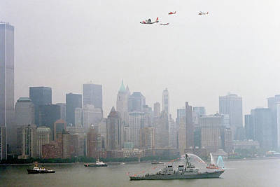 World Trade Center And Opsail 2000 July 4th Uscg Photo 17  Art Print by Sean Gautreaux