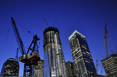 Photograph - World Trade Center Construction by Andrew Dinh