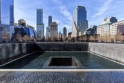 Photograph - World Trade Center Memorial by Alan Raasch