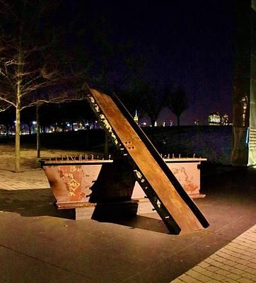 Photograph - World Trade Center Memorial by Karen Silvestri