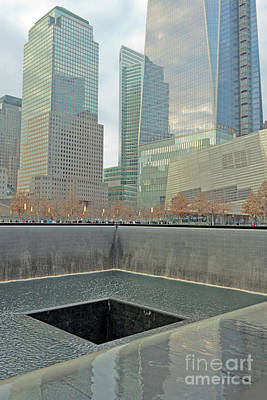 Photograph - World Trade Center Memorial by Stephen Shub