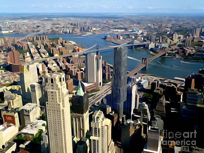 Photograph - One World  Observatory View #3 by Ed Weidman