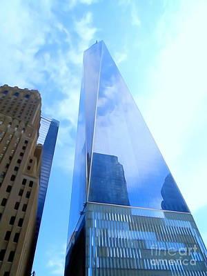 Photograph - World Trade Center Reflections by Ed Weidman