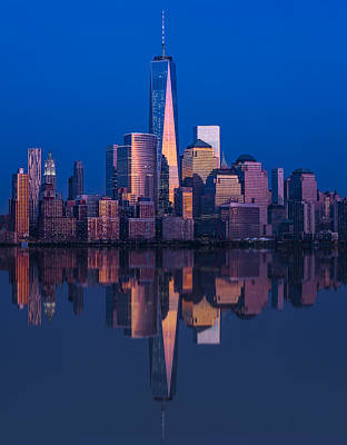 Reflections Photograph - World Trade Center Reflections by Susan Candelario