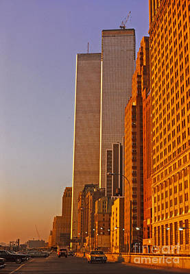 Photograph - World Trade Center Sunset by Stephen Shub