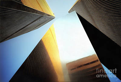 Photograph - World Trade Center Towers and the Ideogram 1971-2001 by Nishanth Gopinathan