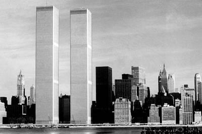 New York City Skyline Photograph - World Trade Center, Twin Towers, 1976 by Everett
