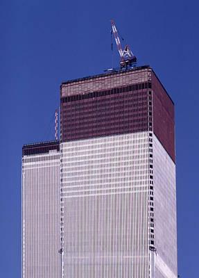 Photograph - World Trade Center Under Construction by Paul Ross