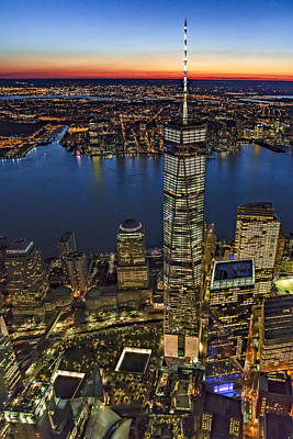 Photograph - World Trade Center Wtc From High Above by Susan Candelario
