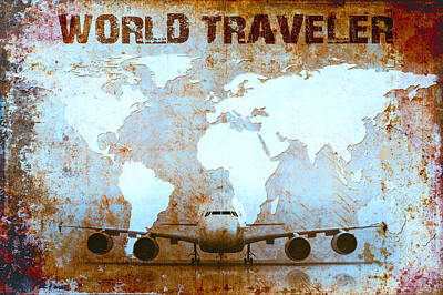 World Traveler Art Print by Daniel Hagerman