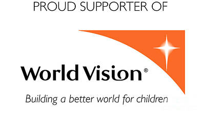 Mission Ventures Digital Art - World Vision Proud Supporter Logo by AEC -  Abundant Eight Creative