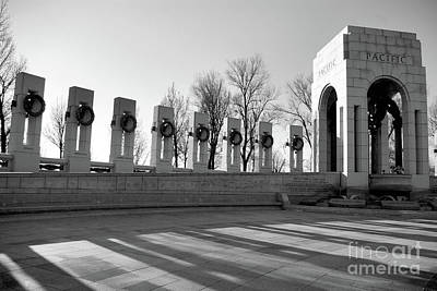 Photograph - World War 2 Memorial Bw by John S