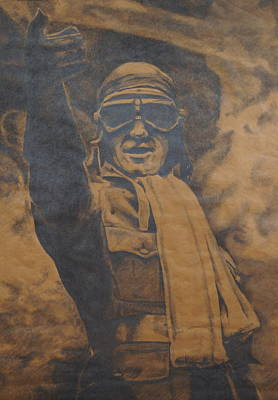 World War I Air Ace Print by Kerry Burch