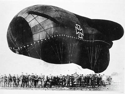 Photograph - World War I: Airship by Granger