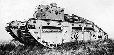 Photograph - World War I British Tank. For Licensing Requests Visit Granger.com by Granger