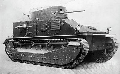 Photograph - World War I British Vickers Tank. For Licensing Requests Visit Granger.com by Granger