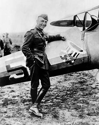 Ev-in Photograph - World War I Fighter Ace And Air Advisor by Everett