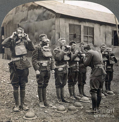 Photograph - World War I: Gas Masks by Granger