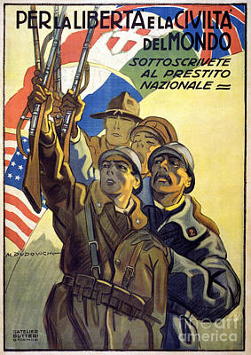 Painting - World War I: Italian Poster by Granger