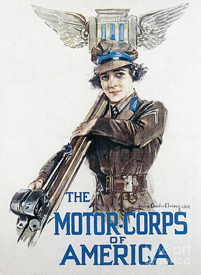 Painting - Motor Corps, 1918 by Granger