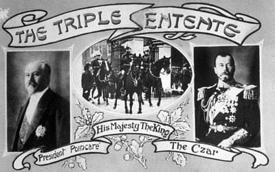 King George V Photograph - World War I, The Triple Entente, French by Everett