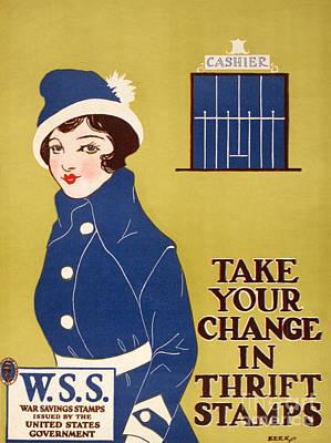 Photograph - World War I: Thrift Stamps by Granger