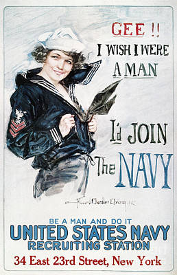 Painting - U.s. Navy, 1917 by Granger