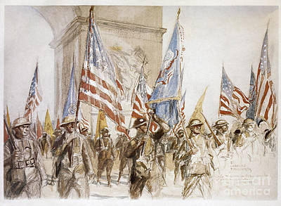 World War I: Victory Parade Art Print by Granger