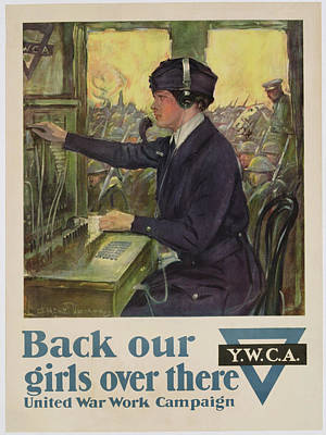 World War I Ywca Poster Art Print by Clarence F Underwood