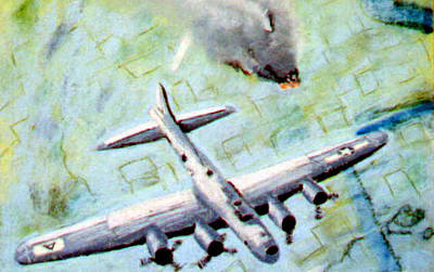 World War II Bombing Raid Art Print by Stan Hamilton