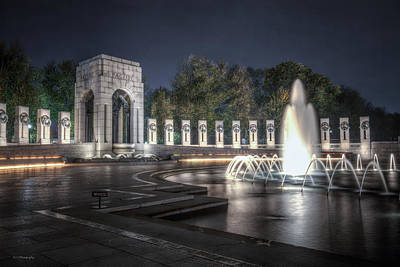 Photograph - World War II Memorial At Night by Ross Henton