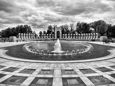 Photograph - World War II Memorial Fountain by Mark Miller