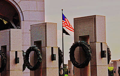 Photograph - World War II Memorial  by John Harding