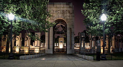Photograph - World War II Memorial Pacific At Night by Chrystal Mimbs