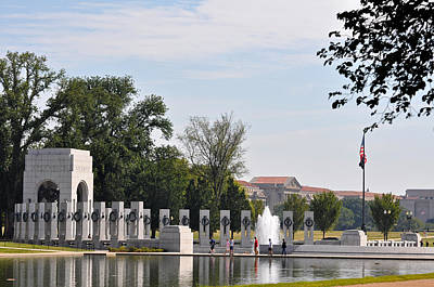 World War II Memorial Art Print by Teresa Blanton