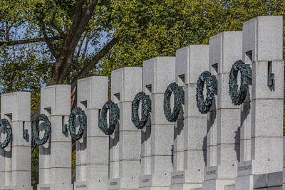 Photograph - World War II Memorial Wreaths by Susan Candelario