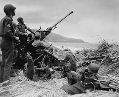 1940s Candid Photograph - World War II, Original Caption by Everett