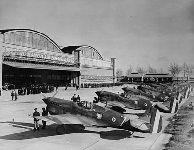 1940s Candid Photograph - World War II, Original Caption Line-up by Everett