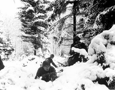 1940s Candid Photograph - World War II. Us Army Infantrymen Take by Everett