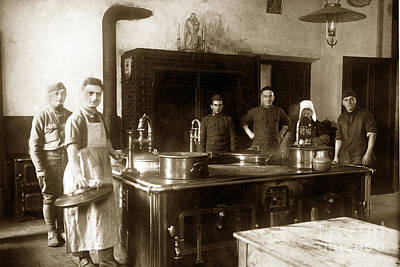 Photograph - World War One Army Kitchen 1918 by California Views Mr Pat Hathaway Archives