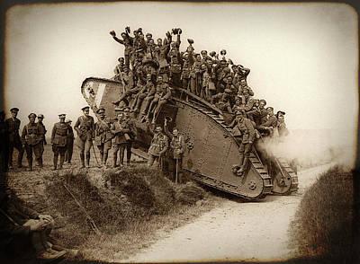 Doughboy Photograph - World War One Tank C. 1917 by Daniel Hagerman