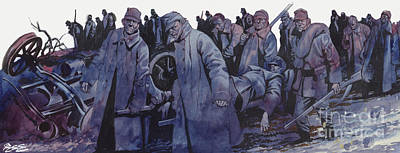 Painting - World War One The Austrian Army Smashed By The Serbs by Ron Embleton