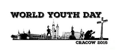Christ Digital Art - World Youth Day Cracow 2016 by Justyna JBJart