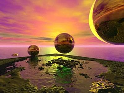 Digital Art - Worlds Being Born by Darren Cannell