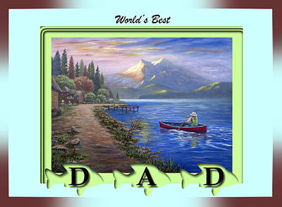 Painting - World's Best Dad by Saeed Hojjati
