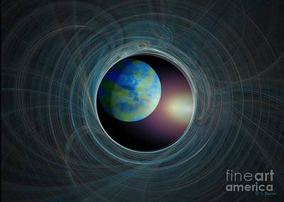 Digital Art - Worlds Beyond by Sandra Bauser Digital Art