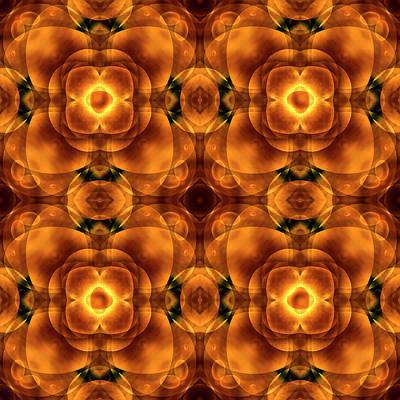 Earth Tones Digital Art - Worlds Collide 8 by Mike McGlothlen